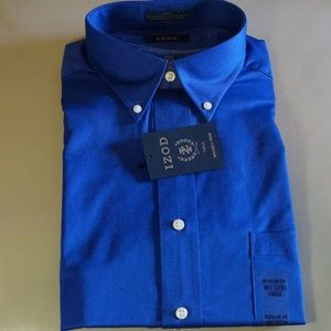IZOD - Blue Long Sleeve Dress Shirt